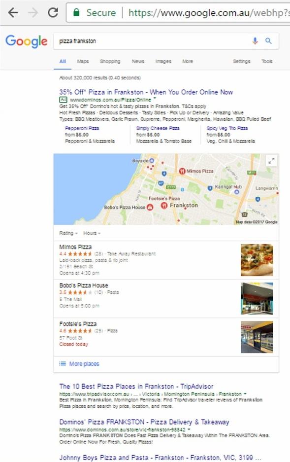 Google Snapshot - Local Business